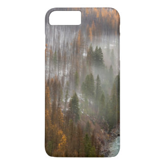 Fog Rolls In On Autumn Larch Trees iPhone 7 Plus Case