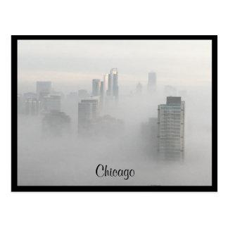 Fog Rolls in to Chicago Postcard