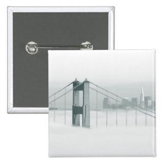 Fog rolls through the San Francisco bay 2 Button