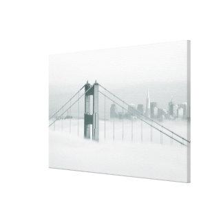 Fog rolls through the San Francisco bay 2 Canvas Prints