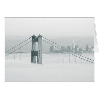 Fog rolls through the San Francisco bay 2 Greeting Cards