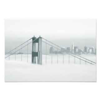 Fog rolls through the San Francisco bay 2 Photo Print