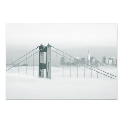 Fog rolls through the San Francisco bay 2 Art Photo