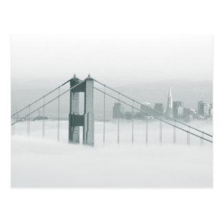 Fog rolls through the San Francisco bay 2 Postcard
