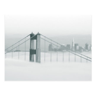Fog rolls through the San Francisco bay 2 Post Cards