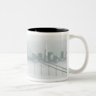 Fog rolls through the San Francisco bay 2 Two-Tone Coffee Mug