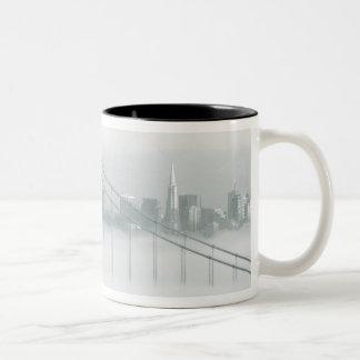 Fog rolls through the San Francisco bay 2 Two-Tone Coffee Mug
