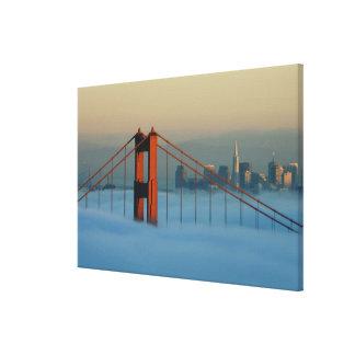 Fog rolls through the San Francisco bay Canvas Prints