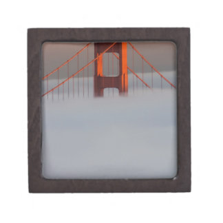 Fog rolls through the San Francisco bay covering 2 Keepsake Box