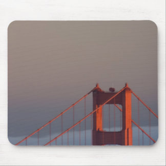Fog rolls through the San Francisco bay covering Mouse Pad