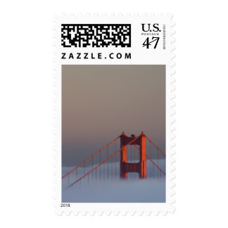 Fog rolls through the San Francisco bay covering Stamp
