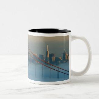 Fog rolls through the San Francisco bay Two-Tone Coffee Mug
