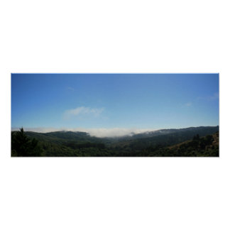 Fog seeps into Valley, Panoramic Poster