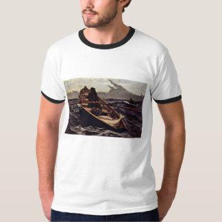 Fog Warning (The Fog Warning) By Homer Winslow T-Shirt
