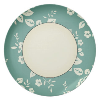 Fogged-Irish_Retro_Floral(c) Inner Cream_Unisex Dinner Plate