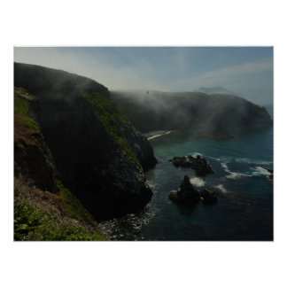 Foggy Anacapa Island at Channel Islands Poster