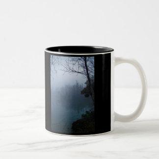 Foggy and Blue Two-Tone Coffee Mug