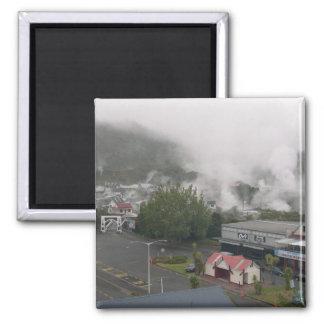 Foggy Area Of Whakarewarewa Geothermal At Rotorua Magnet
