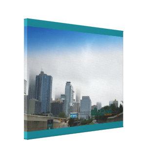 Foggy Atlanta Morning Canvas Print