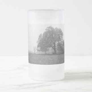 Foggy Autumn Morning Grayscale Frosted Glass Beer Mug