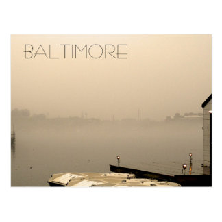 Foggy Baltimore Postcards