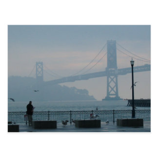 Foggy Bay Bridge Postcard