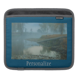 Foggy Bitterroot River Morning Design iPad Sleeves