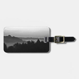 Foggy Black and white Luggage Tag