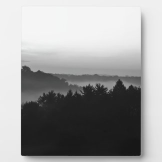 Foggy Black and white Plaque