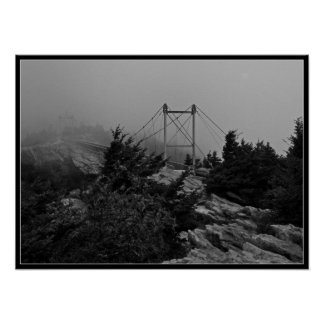 Foggy Bridge on Grandfather Mountain Poster