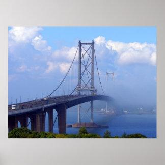 Foggy Bridge Poster