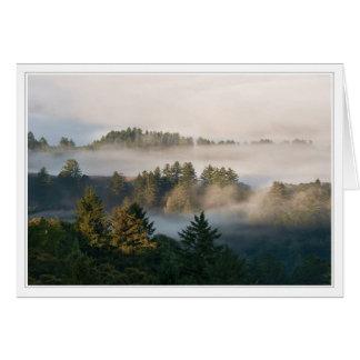 Foggy California Landscape Card