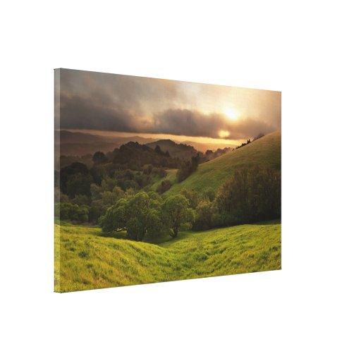 Foggy California Sunset Gallery Wrap Canvas