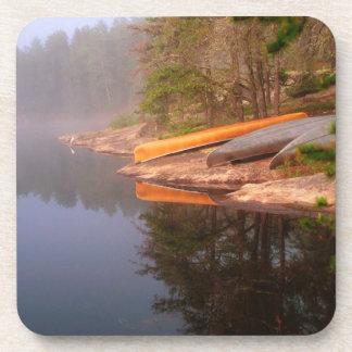 Foggy Canoe Campsite, Lake Kawnipi, Beverage Coaster