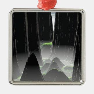 Foggy Canyon Pass Metal Ornament