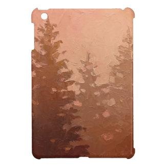 Foggy Cedar Trees in Warm Colors Case For The iPad Mini