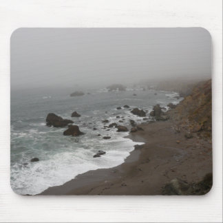 Foggy Coastline Mouse Pad