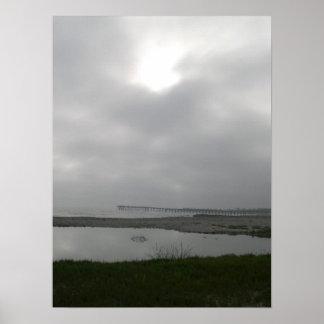 foggy day at ventura poster
