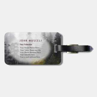 Foggy Elk River Old Growth Forest Office Suite Tag For Luggage