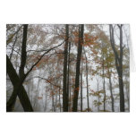 Foggy Fall in Pennsylvania Card