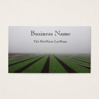 foggy field business card