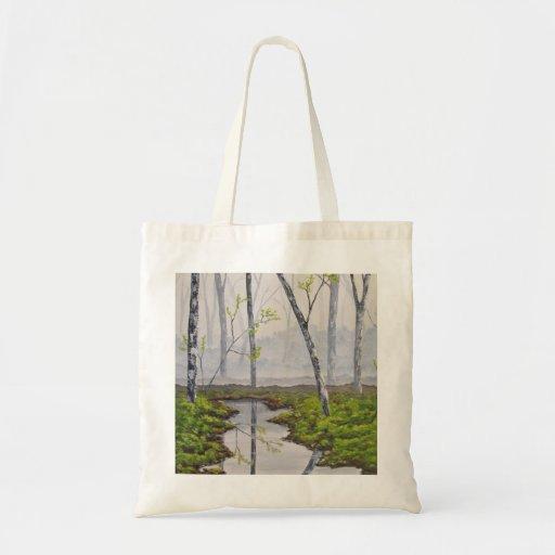 Foggy Forest Art Bag