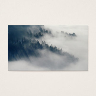 Foggy forest business card