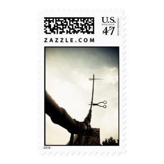Foggy Forks Zodiac Sculpture Postage