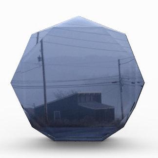 Foggy Ghost Town Acrylic Award