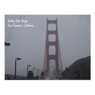 Foggy Golden Gate Bridge Postcard