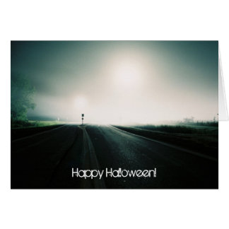 Foggy highway card 1