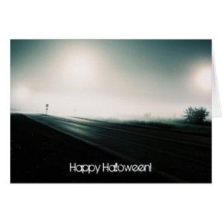 Foggy highway card 2