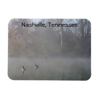 Foggy Lake, Nashville Rectangular Photo Magnet