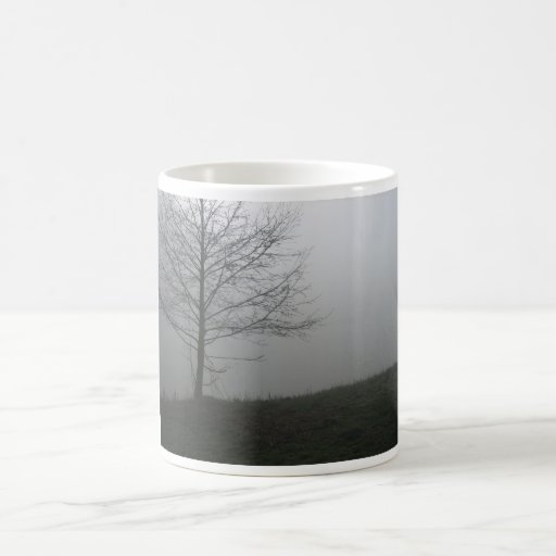 Foggy landscape coffee mug